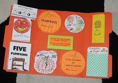 pumpkin lapbook- with links to printables to make it