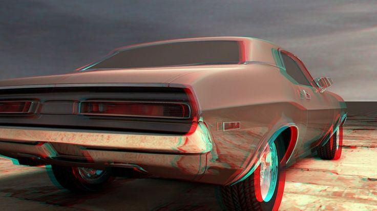 anaglyph car 2 by stanculau.deviantart.com on @deviantART