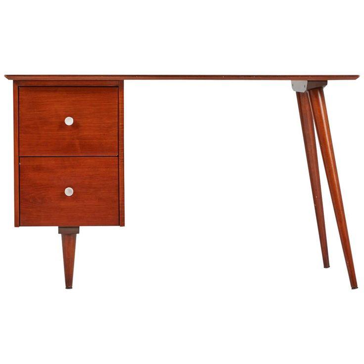 Paul McCobb Planner Group Mahogany Desk for Winchedon, circa 1950