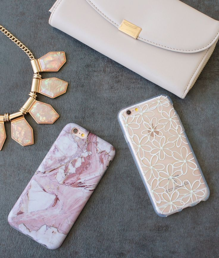 Rose Marble and Lily Case from the Floral Collection at Elemental Cases. Available for iPhone 6/6s and 6 Plus/6s Plus