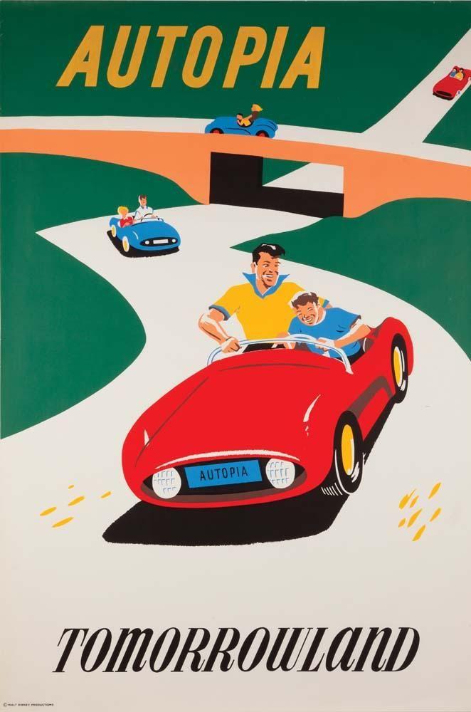 vintage disney attraction posters | DISNEY] Vintage Poster from Disneyland Attraction We Can't Afford