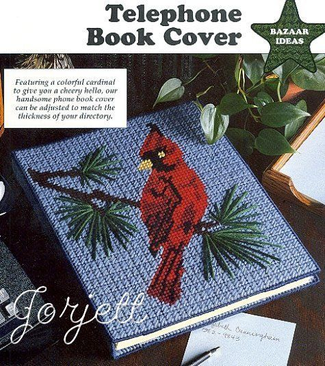 Book Cover Patterns Photo Free : Cardinal book cover picture plastic canvas pattern