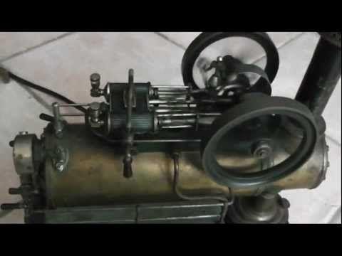 Steampunk - Dampfmaschine, Lokomobil, steam engine - first run - Testlauf - YouTube