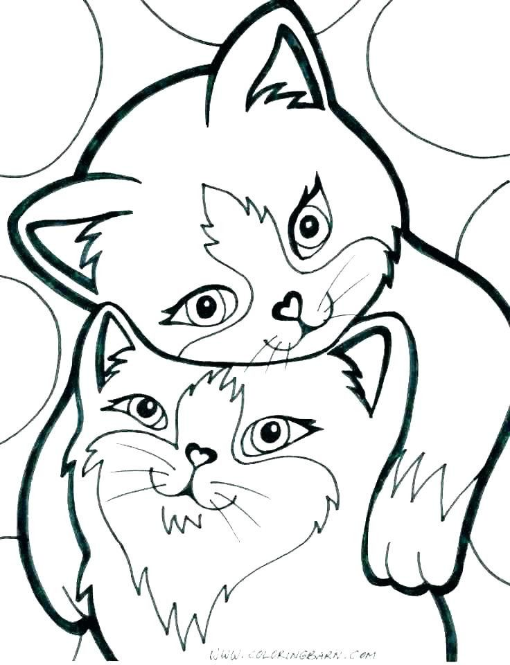 - Cute Kitten Coloring Pages Puppy And Kitten Coloring Pages – Imwithphil In  2020 Kittens Coloring, Cat Coloring Page, Cat Coloring Book