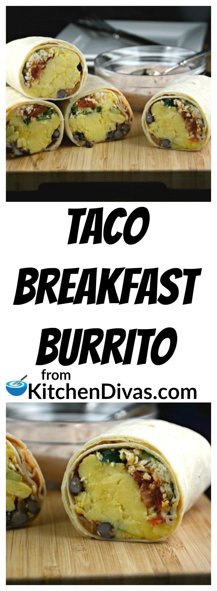 This is a fantastic way to enjoy breakfast or brunch! We usually use Monterey Jack cheese but any cheese will do. As a matter of fact you can adjust, add or remove any of the ingredients to suit  your tastes.  These Taco Breakfast Burritos are delicious every time.