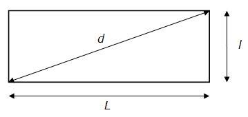 Calcul de la longueur de la diagonale d'un rectangle