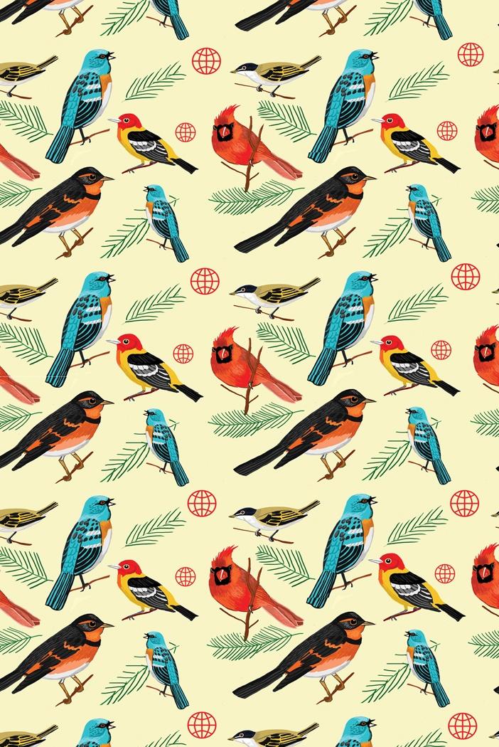 Vintage Bird Pattern jackiebesteman.com