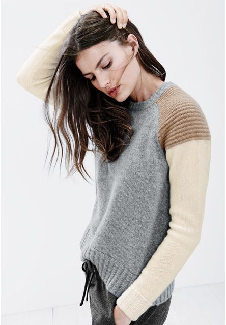 J. Crew cashmere colorblock sweater @bristol_ivy I thought you might enjoy this one
