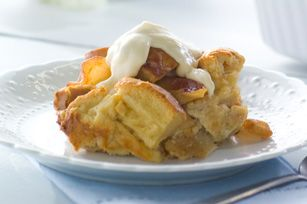 Creamy PHILLY Maple Bread Pudding