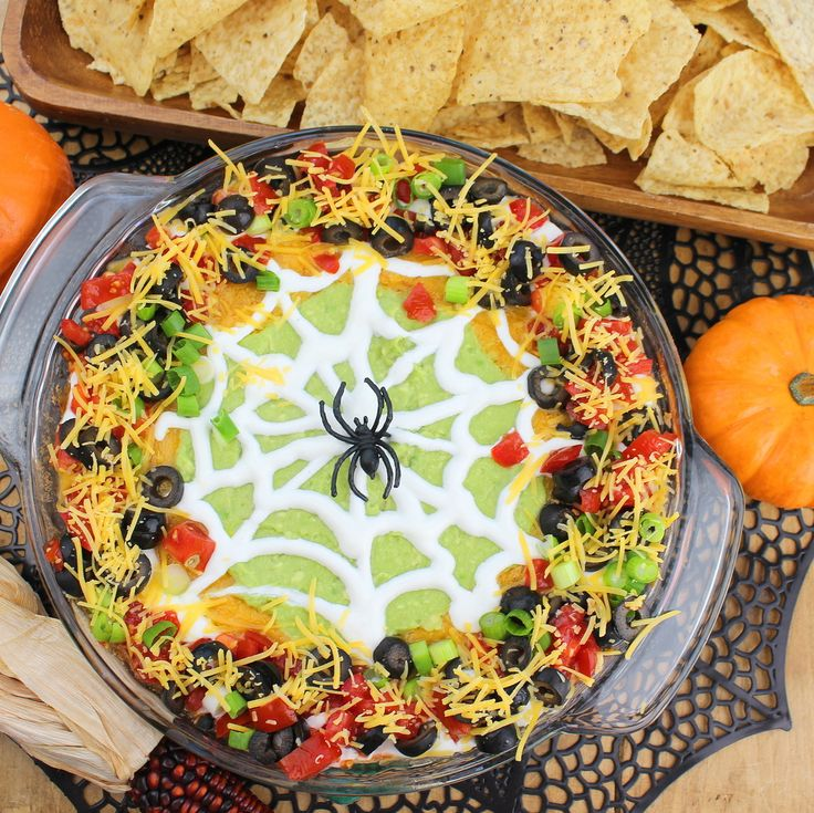 Scary good taco dip for your Halloween party!