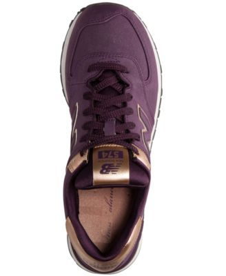 Purple and rose gold. Yes!! New Balance Women's 574 Precious Metals Casual Sneakers from Finish Line