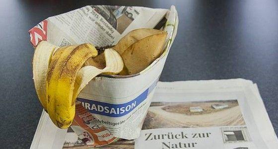 Mülltüten und Einkaufstüten ohne Kleben aus Zeitungspapier falten