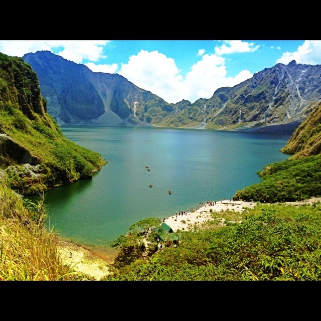Mount Pinatubo, an active stratovolcano located in the provinces of Zambales, Tarlac and Pampanga, Philippines.