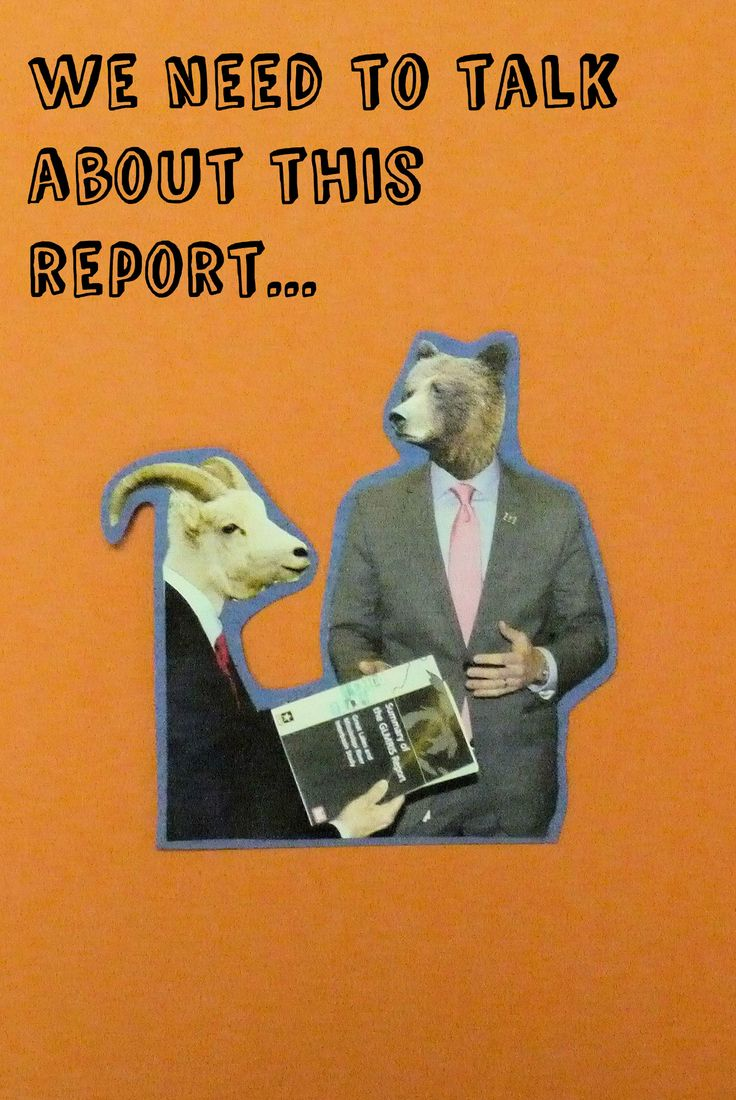 Bear and Ram need to talk about the latest report.