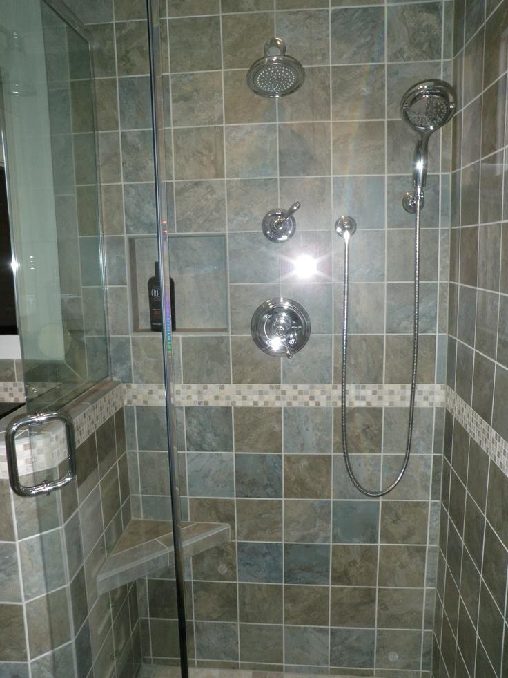 Inspiration Web Design Small Condo Bath tile shower detail