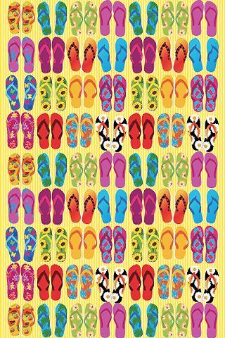 - #Summer #flip #flops #Hawaiians #beach #patterns #print #illustration #design #fashion