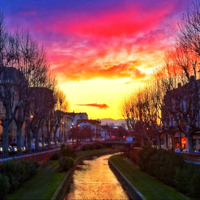 Perpignan, France || Can't wait for the sunsets, my friend tells me all the way how beautiful they are :p