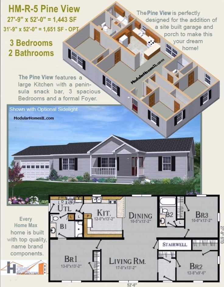 12 best images about modular homes floor plans on pinterest for Open concept cape cod house plans