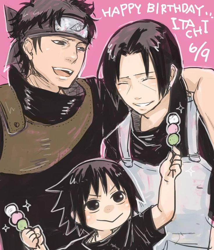 Shisui, Itachi and Sasuke