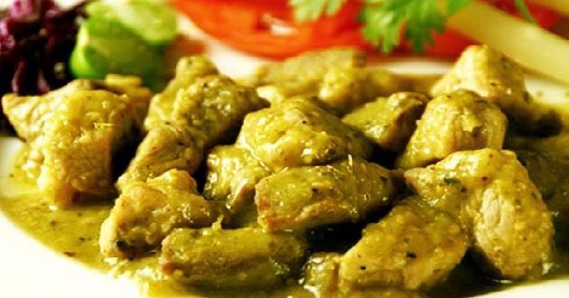 mexican- Carne de puerco en salsa verde