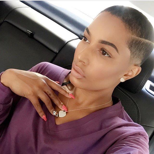 @mrs_tahirah Gorgeous! | #thecutlife #shorthair #freshut #bald #beauty #stunner ✂️