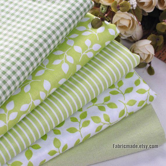 Fat Quarter Bundle / Spring Green Bundle Fabric / by fabricmade, $13.80