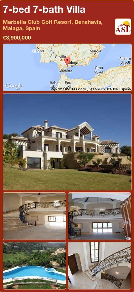 7-bed 7-bath Villa in Marbella Club Golf Resort, Benahavis, Malaga, Spain ►€3,900,000 #PropertyForSaleInSpain