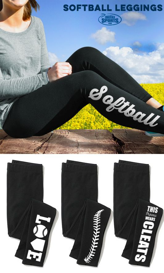Looking for a great gift your softball player will love? Our super comfy leggings for softball players are perfect for relaxing after practice and come in personalized and custom options!