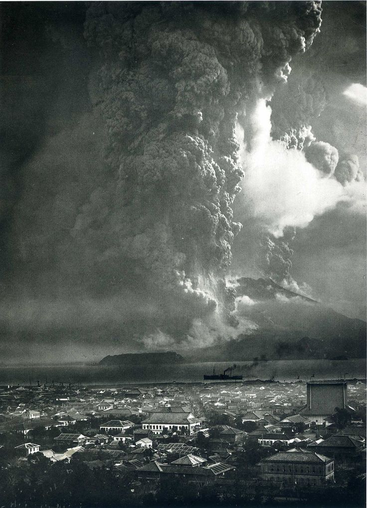 Sakurajima, Eruption as Seen from Kagoshima, 1914