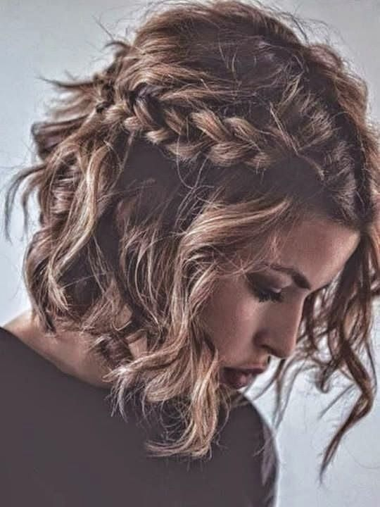 cute braiding styles for short hair 25 best ideas about easy hairstyles on 1194 | 87eb436bf311e4a69aaa105c1fdcfd10 short hairstyles with bangs braid hairstyles