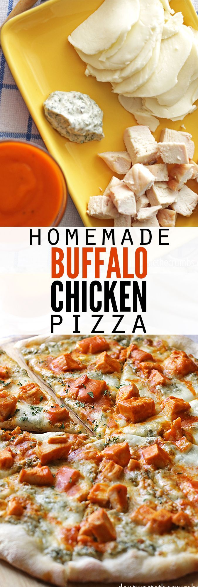 My husband used to only eat pepperoni pizza until he tried this - now he won't eat anything else! This easy recipe for buffalo chicken pizza combines homemade ranch dressing with pizza dough from scratch to make the best homemade pizza ever - hands down!