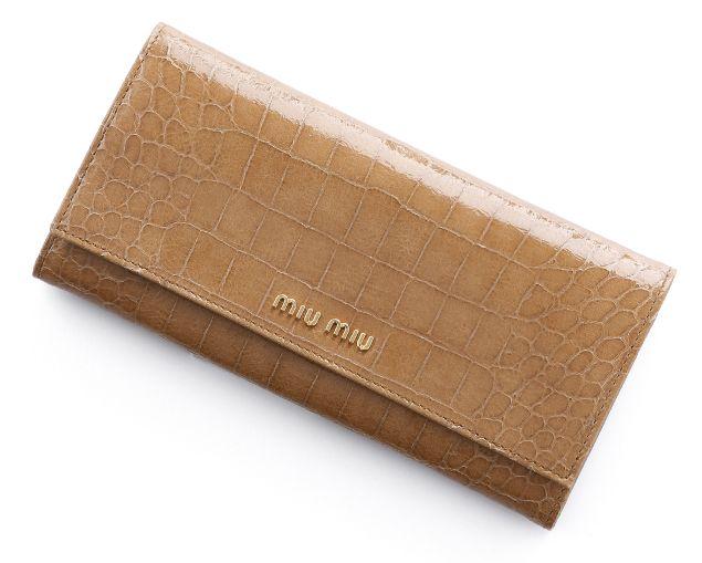ミュウミュウ2013年春夏新作STCOCCO LUX二つ折り 長財布 5M1109 NKG F0040  -ミュウミュウ財布コピー