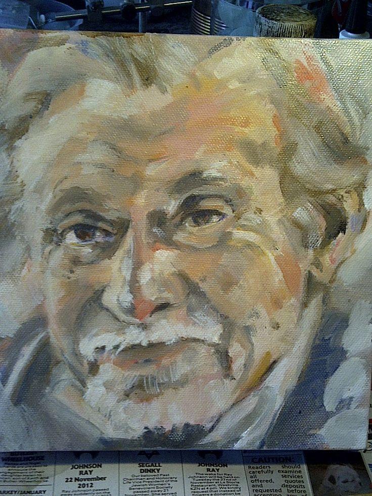 Linda Rademan. 10 x 10cm oil on canvas