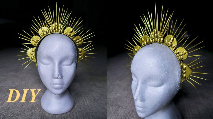 {DIY Gold Spike Crown using Skewers, Easy}