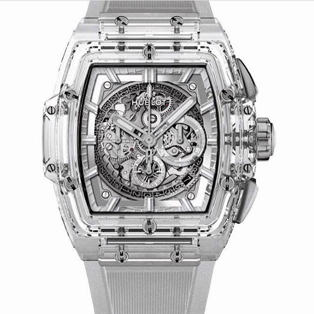 REPOST!!!  Hublot's Spirit of Big Bang in Sapphire..... #watch #watches #watchporn #time #timepiece #horology #dailytime #dailywatch #instatime #instawatch #limited #limitededition #skeleton #hublot #bigbang #spiritofbigbang #sapphire #chrono #chronograph #baselworld2017  Photo Credit: Instagram ID @avinpokardas