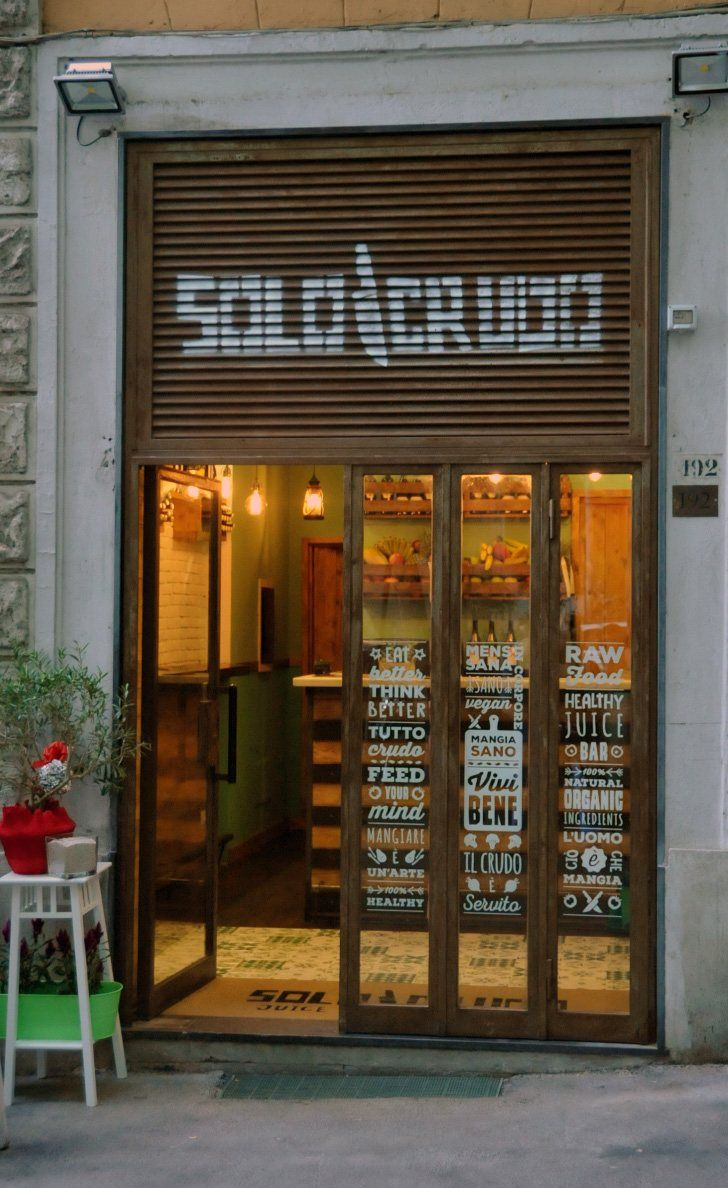 Solo Crudo Juice bar and raw food, Roma, 2015 - Marco Grippo