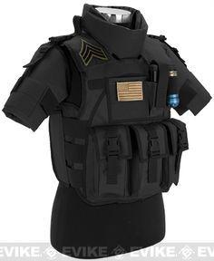 Matrix S.D.E.U. Ultra Light Weight Airsoft Tactical Vest - (Black), Tac. Gear/Apparel, Body Armor & Vests, Black - Evike.com Airsoft Superstore
