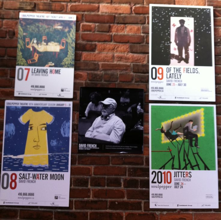 Lobby display at Soulpepper, 2010.