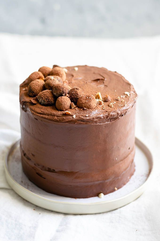 Vegan Hazelnut Cake With Whipped Chocolate Ganache Recipe Vegan Cake Recipes Hazelnut Cake Vegan Dessert Recipes