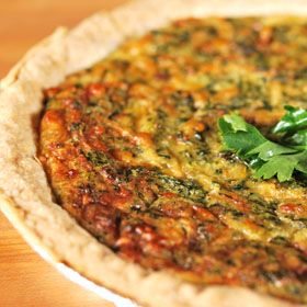 Crab and Spinach Quiche, from ATCO Blue Flame Kitchen.