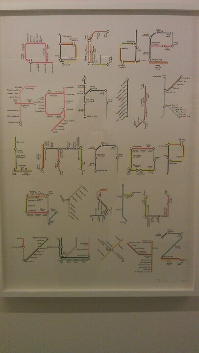 A-Z tube map