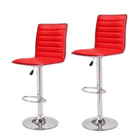 Adeco Goobies Red Swivel Bar Stools (Set of two) CH0029-3 $89.99