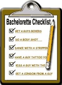 Bachelorette Scavenger Hunt List maid-of-honor