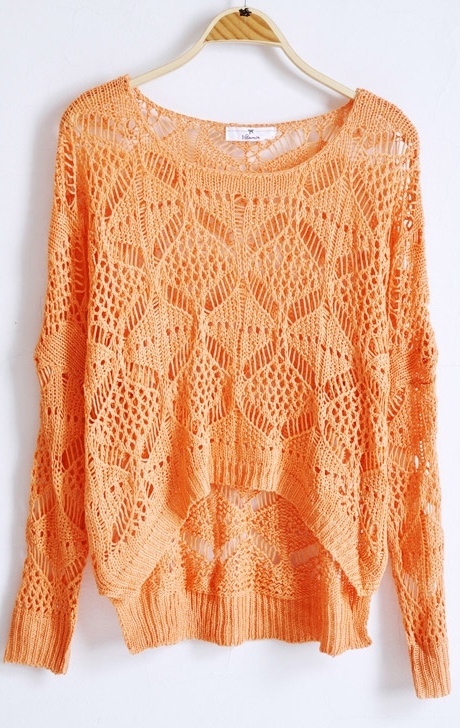 Orange Hollow Batwing Loose Embroidery SweaterBatwing Loose, Sweater Weather, Orange Sweaters, Loose Embroidery, Fall Sweaters, Embroidery Sweaters, Oversized Sweaters, Orange Fall Sweater, Knits Sweaters