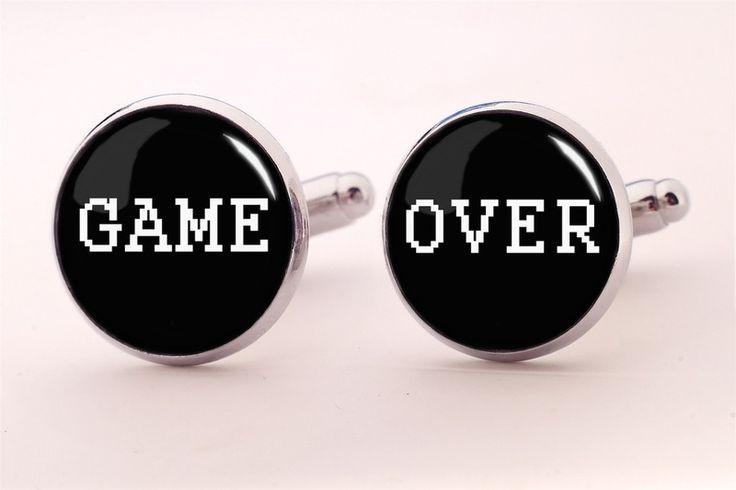 GAME OVER Cuff links, 0528CS from EgginEgg by DaWanda.com