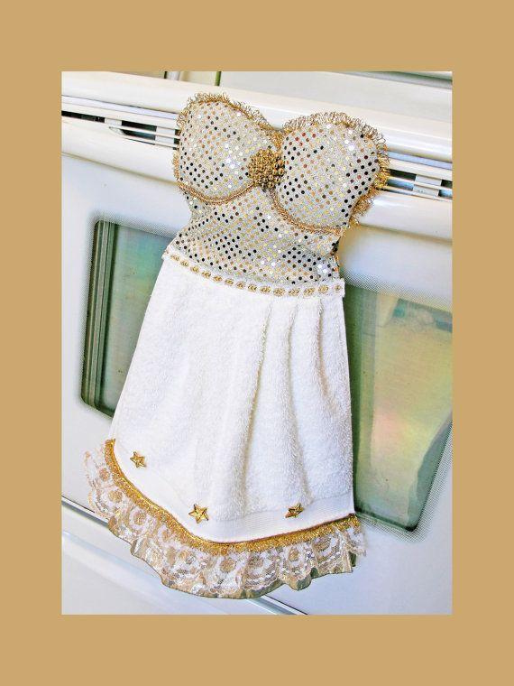 Winter Wonderland Dish Towel Oven Door Dress Kitchen - Www