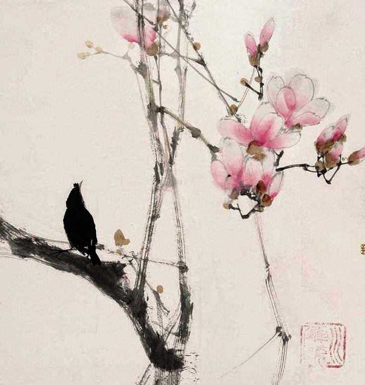 PINTURA JAPONESA SUMI-E EN MI CUADERNO DE APUNTES.02/12/2014  Aprendiendo de la…