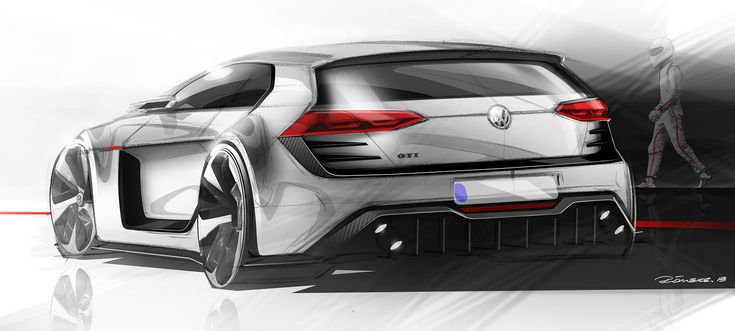 Design A Car >> Volkswagen Design Vision GTI Design Sketch | Sketching Design - Rendering | Pinterest