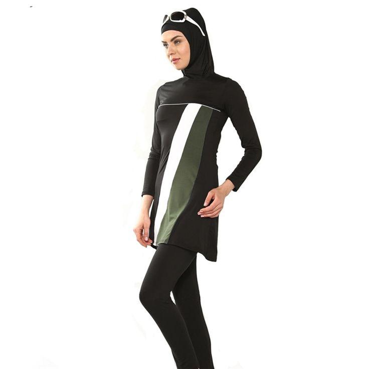Everest Muslim Swimwear Women Hooded Swimsuit Lycra Islamic Ramadan Arab Beachwear Bikini S/M/L/XXL/3XL/4XL