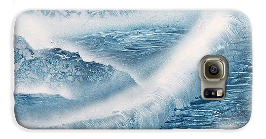 Waterfall From Heaven Galaxy S6 Case Printed with Fine Art spray painting image Waterfall From Heaven by Nandor Molnar (When you visit the Shop, change the orientation, background color and image size as you wish)